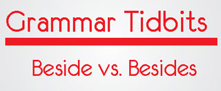 grammar blog explaining difference between beside and besides