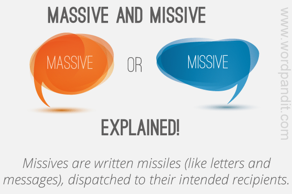 difference between massive and missive