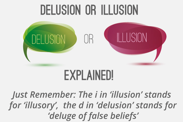 difference between delusion and illusion