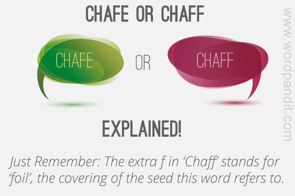 difference between chafe and chaff