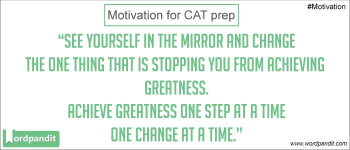 CAT preparation motivation
