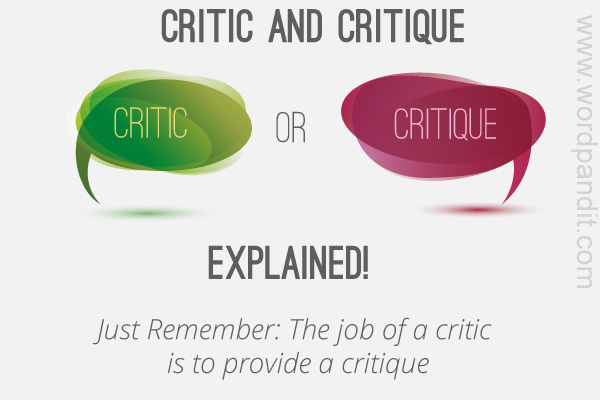 difference between critic and critique