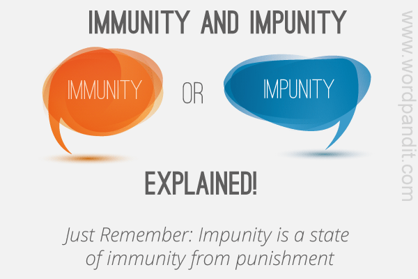 difference between immunity and impunity