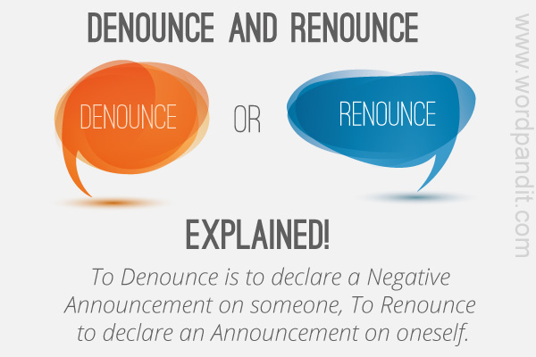 difference between and renounce