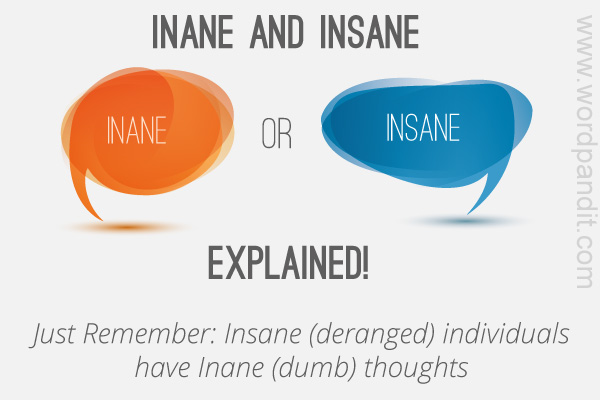 difference between inane and insane