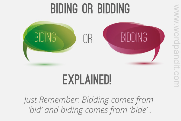 difference between bidding and biding