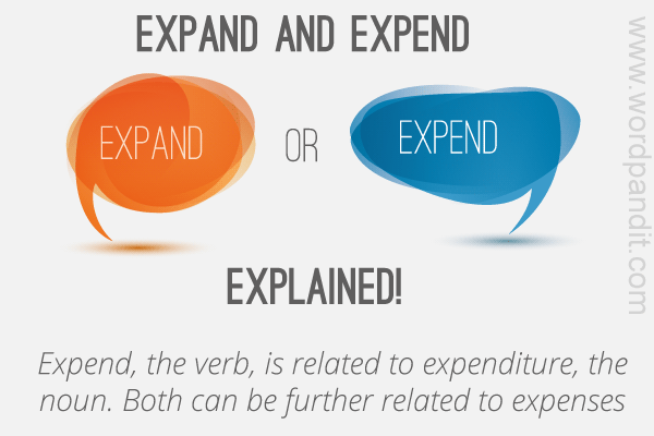 difference between expand and expend