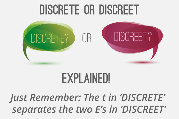 difference between discrete and discreet