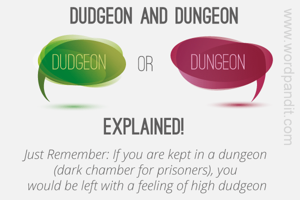 difference between dudgeon and dungeon