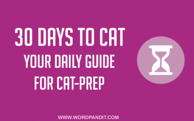 30 Days to CAT: A Simple Strategy