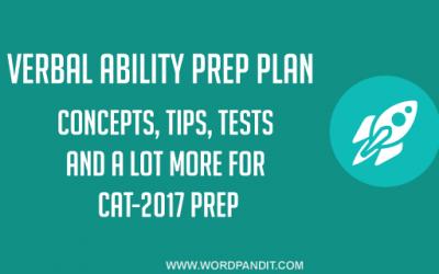 Verbal Ability CAT-2017 Prep Plan: Day-7