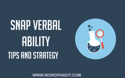 SNAP Verbal Ability: Quick Guide for SNAP Verbal Ability Section